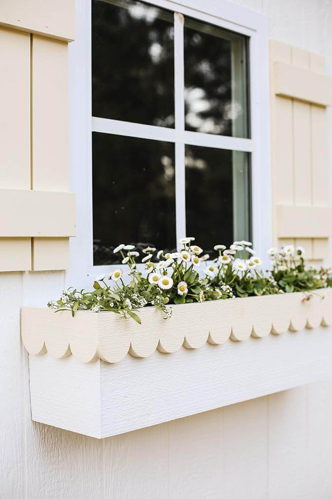 DIY Scallop Flower Box